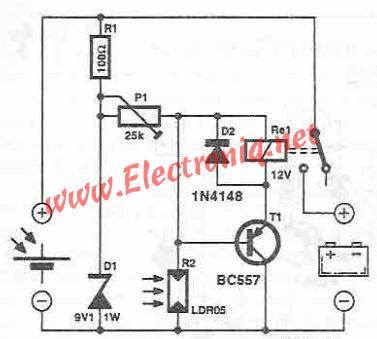 circuit diagram solar panel battery charger on solar panel battery