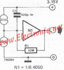 Very simple touch switch sensor circuit diagram project