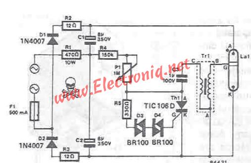 xenon strobe electronic circuit project