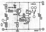 Electronic vox voice controlled switch circuit