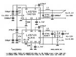 High current power supply diagram using L4970A L4974A 5-12V