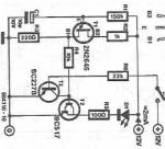 LED flasher circuit diagram using transistor