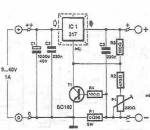 LM317 Lead acid batteries charger circuit diagram