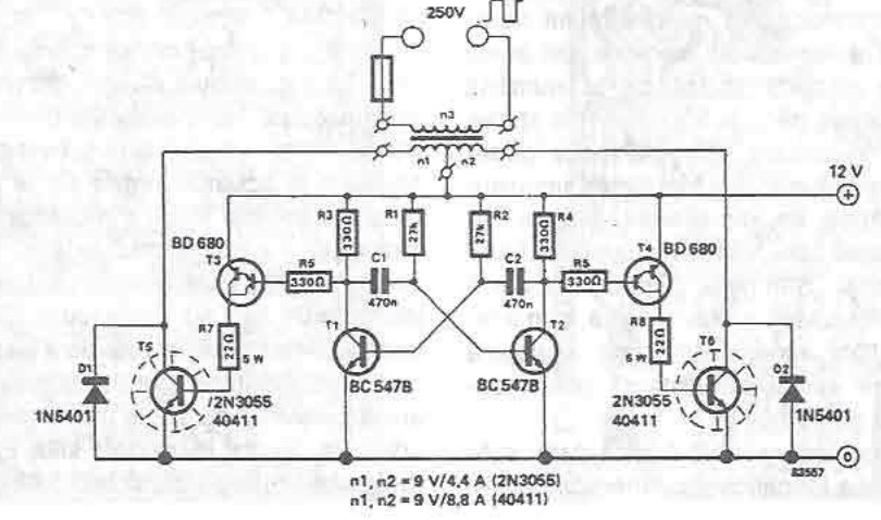 12 250V converter circuit diagram