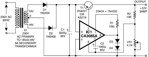 12v Power Supply Circuitrhelectroniq: 12v Power Supply Schematic At Gmaili.net