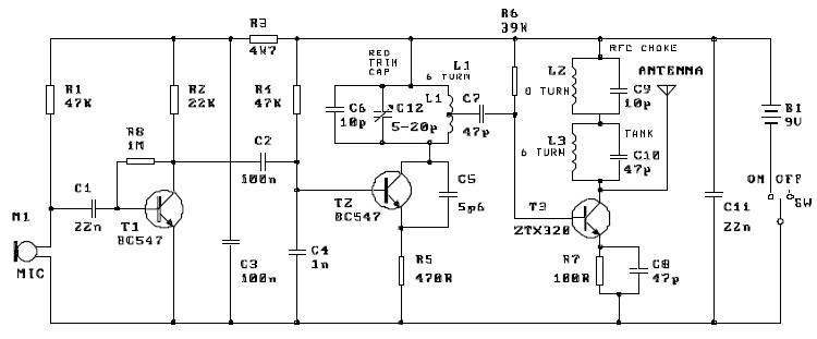fm transmitter circuit diagram project rh electroniq net FM Transmitter Circuit Wireless FM Transmitter