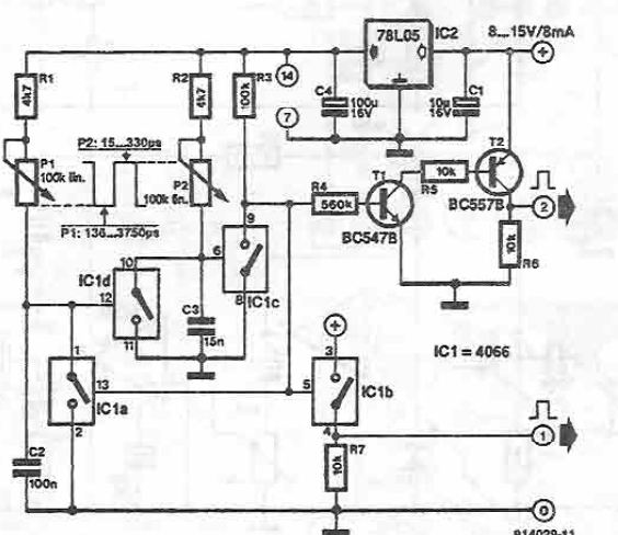 pulse generator using 4066 ic