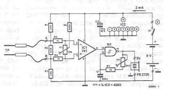 electric continuity tester circuit diagram