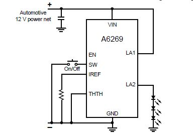 A6269    automotive    LED driver array    circuit       diagram
