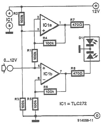 Bicolor LED driver circuit