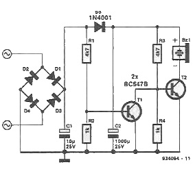 Complementary electronic buzzer ring circuit
