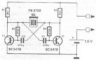 Continuity tester circuit with buzzer continuity tester circuit diagram with buzzer ccuart Images