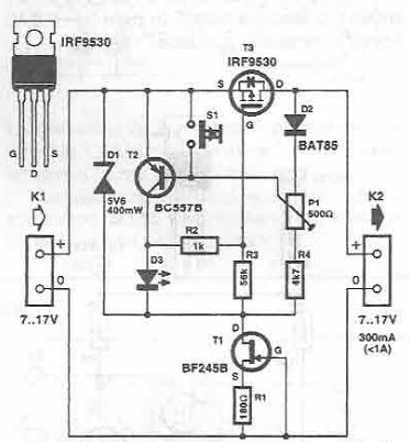 electronic fuse with transistors rh electroniq net Electronic Fuse Circuit Diagram Using IC 741 Blown Fuse