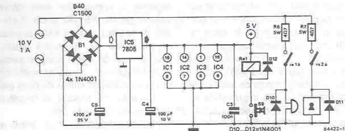 single button electronic lock circuit diagram electronic project