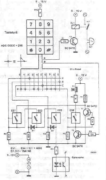 Simple Electronic Lock Circuit Diagram Project