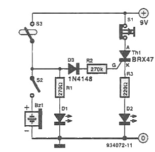 Fishing warning circuit diagram