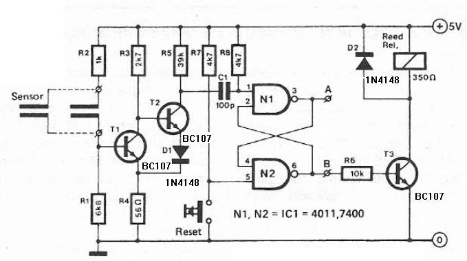 humidity detector circuit diagram project