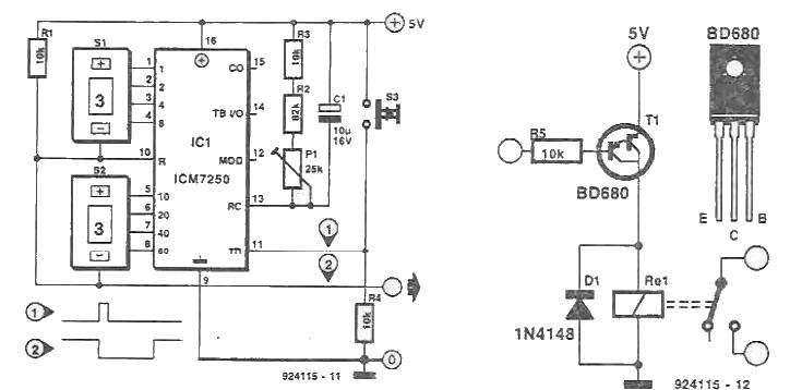 icm7250 timer circuit electronic project rh electroniq net