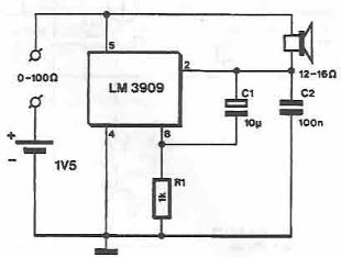 Continuity Tester Circuit Using Ic 555 moreover Transistor Tester Circuit Diagram as well Project20 further Schematic Diagram Of Transistor Tester further Metaldetectorcircuitschematicgif. on continuity tester using 555 timer circuit diagram