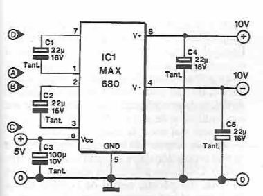 MAX680 symmetrical voltage doubler circuit diagram ...