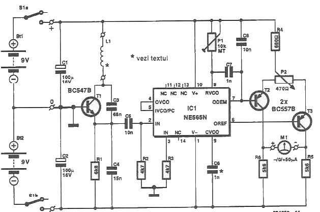 Ne565 Metal Detector Circuitrhelectroniq: Metal Detector Schematic Diagram At Gmaili.net