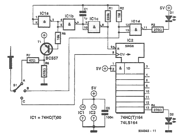Probe tester circuit diagram