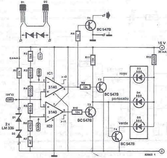 temperature radiator indicator electronic project