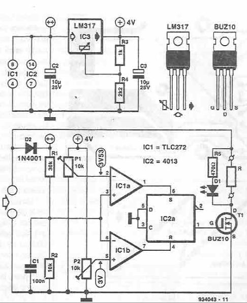 solar panel stabilizer circuit