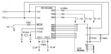 PIC16CXXX real time clock electronic project circuit diagram