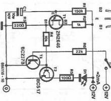 LED flasher circuit diagram using transistor