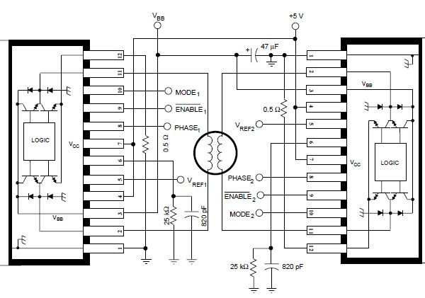 a3952s stepper motor controller circuit diagram