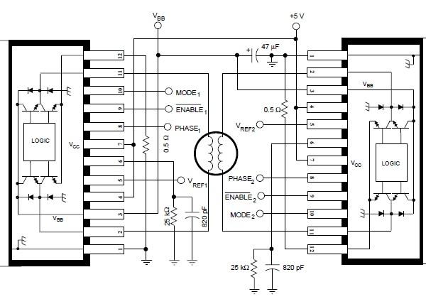 A3952S    stepper       motor    controller circuit    diagram