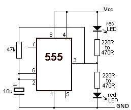 Circuit Diagram Of Led Flasher on 12v to 24v battery wiring