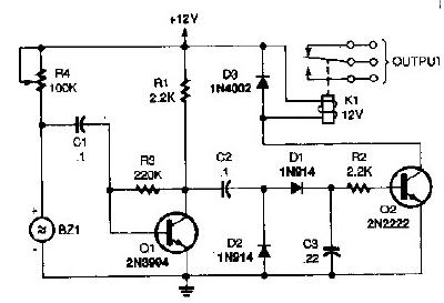 Ultrasonic Proximity Sensor Circuit Diagram