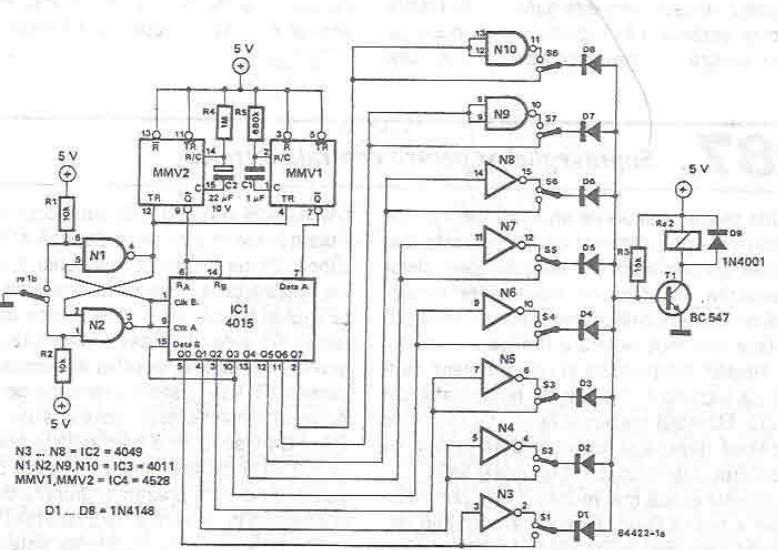Single Button Electronic Lock Circuit Diagram Electronic