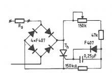 0-220V voltage dimmer circuit