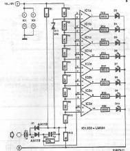 LED vumeter circuit diagram using LM324