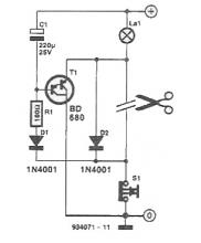 Delayed turned off light circuit diagram