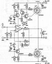 MOSFET power audio amplifier circuit