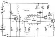 NE565 metal detector circuit diagram